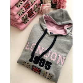 London letras rosas GRIS NIÑ@