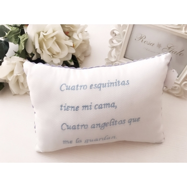 Cushion embroidered