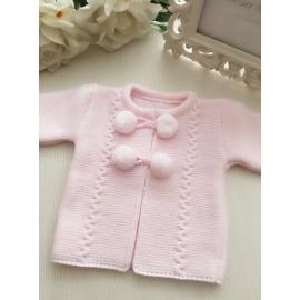 Chaqueta rosa bebé
