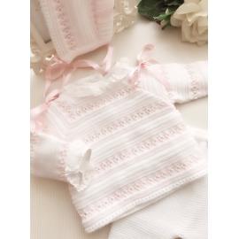 Conjunto Blanco/Rosa 3P OTOÑO/INVIERNO