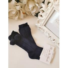 Calcetines blancos cortos calados